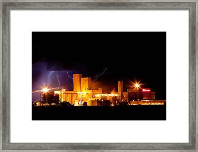 Budwesier Brewery Lightning Thunderstorm Image 3918 Framed Print by James BO  Insogna