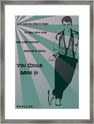 Bueller Framed Print by Dan Sproul