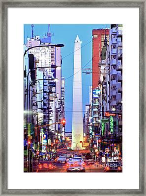 Buenos Aires Obelisk Framed Print by Bernardo Galmarini