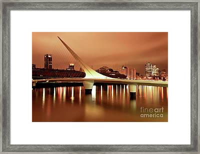 Buenos Aires On Fire Framed Print