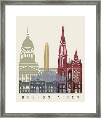 Buenos Aires Skyline Poster Framed Print