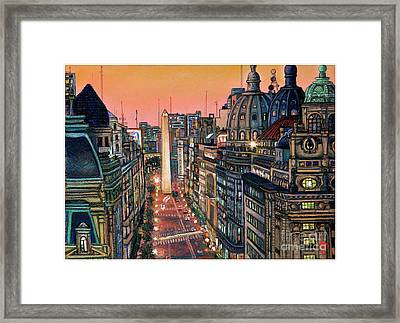 Buenos Aires Twilight Framed Print