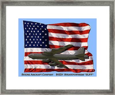 Buff And Flag Framed Print by Tim Mulina