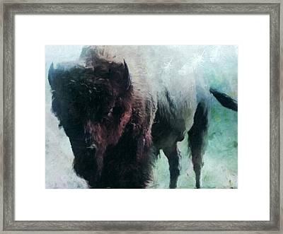 Buffalo American Bison Framed Print by Michele Carter