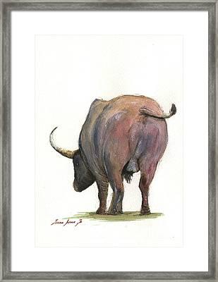 Buffalo Back Framed Print by Juan Bosco