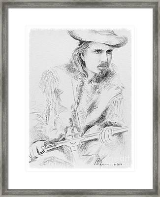 Buffalo Bill Framed Print by Barbara Chase