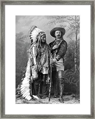 Buffalo Bill Cody And Chief Sitting Bull C. 1890 Framed Print