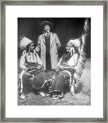 Buffalo Bill With Red Cloud And American Horse Framed Print