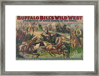 Buffalo Bills Wild West, American Framed Print by Science Source
