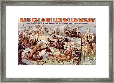 Buffalo Bills Wild West And Congress Framed Print by Everett