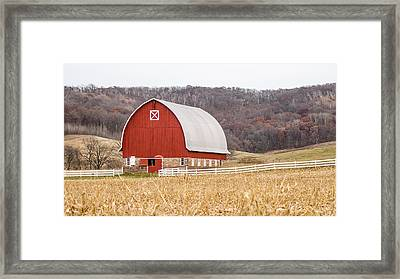 Framed Print featuring the photograph Buffalo County Barn by Dan Traun