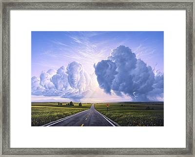 Buffalo Crossing Framed Print