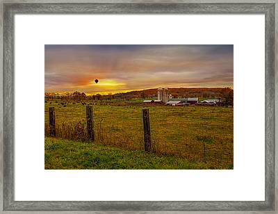 Buffalo Farm Sunset Framed Print by Susan Candelario