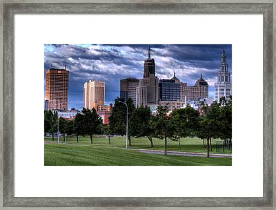 Buffalo From Elm And Tupper Framed Print