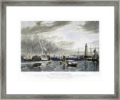 Buffalo From Lake Erie Framed Print by Peter Chilelli