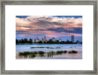 Buffalo From The Breakwall Framed Print