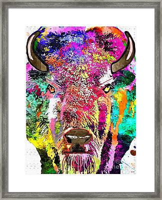 Buffalo Grunge Framed Print by Daniel Janda