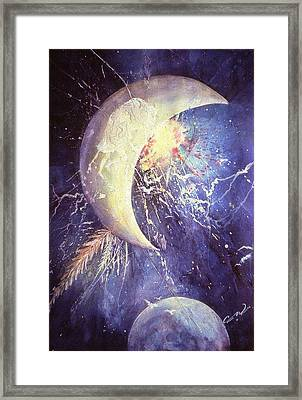 Buffalo Half-moon Framed Print