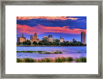 Framed Print featuring the photograph Buffalo In Pastels by Don Nieman