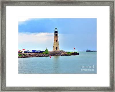 Buffalo Lighthouse Framed Print