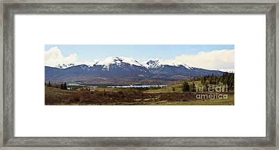 Buffalo Mountain And Red Peak - Digital Paint Framed Print