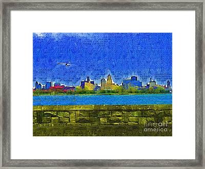 Buffalo Ny Skyline Framed Print by Deborah MacQuarrie-Selib