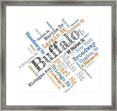 Buffalo Ny Word Cloud Framed Print