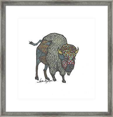 Buffalo Or Bison Framed Print