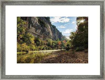 Buffalo River Morning Framed Print by James Barber