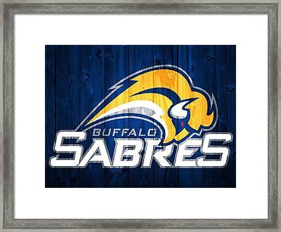 Buffalo Sabres Barn Door Framed Print by Dan Sproul