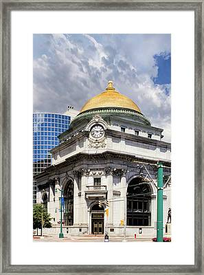 Buffalo Savings Bank Framed Print by Peter Chilelli