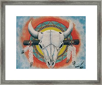 Buffalo Skull Framed Print by Duane West