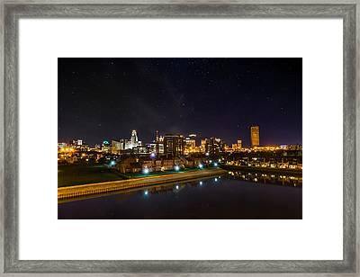 Buffalo Skyline Under The Stars Framed Print