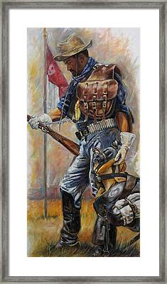 Buffalo Soldier Outfitted Framed Print