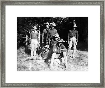 Buffalo Soldiers Of The 25th Infantry Framed Print by Everett