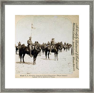 Buffalo Soldiers Of The Ninth U.s Framed Print by Everett