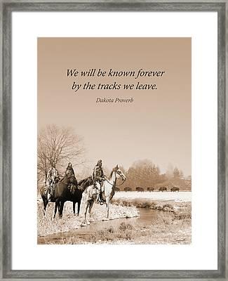 Buffalo Trail  Framed Print