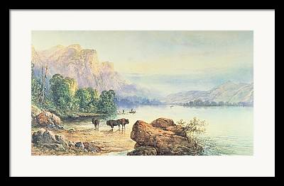 Mountain Paintings Framed Prints