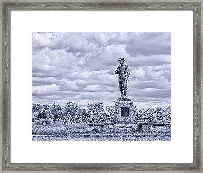 Buford Statue Gettysburg Toned Framed Print