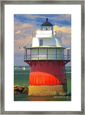 Bug Light Plymouth Framed Print by Amazing Jules