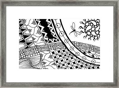 Bug To Sun Framed Print