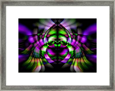 Framed Print featuring the photograph Bug With Wings by Cherie Duran