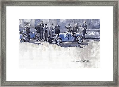 Bugatti 35c Monaco Gp 1930 Louis Chiron  Framed Print by Yuriy  Shevchuk