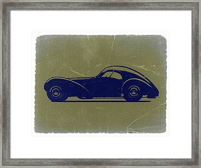 Bugatti 57 S Atlantic Framed Print by Naxart Studio