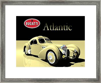Bugatti Atlantic Framed Print by John Pangia