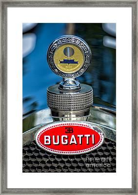 Bugatti Car Emblem Framed Print by Adrian Evans