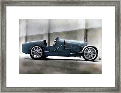 Bugatti Legend Framed Print by Peter Chilelli