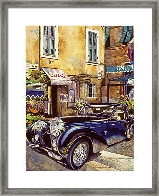 Bugatti Framed Print by Mike Hill