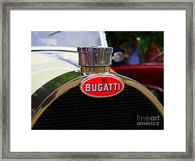 Bugatti Red Framed Print