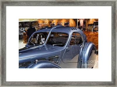 Bugatti Side View.  Framed Print by Garland Johnson